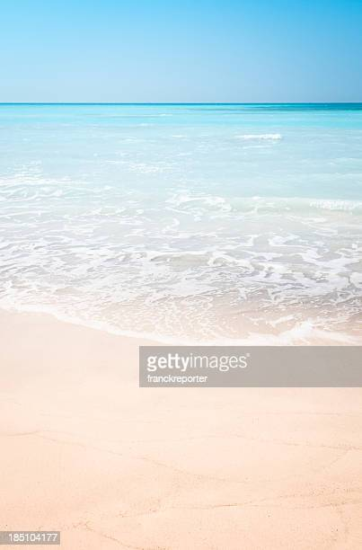 Blue sea on caribbean beach at summer
