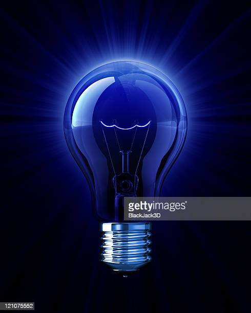 Blu luce di Lampadina