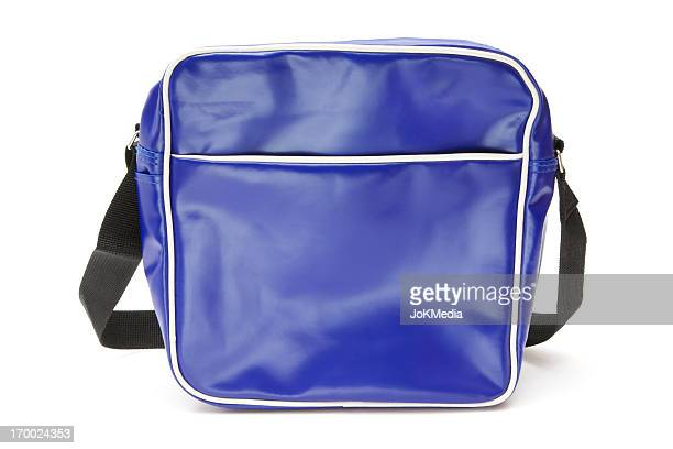 A blue shines plastic retro shoulder bag