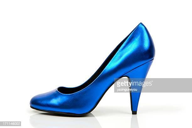 Bleu chaussures série