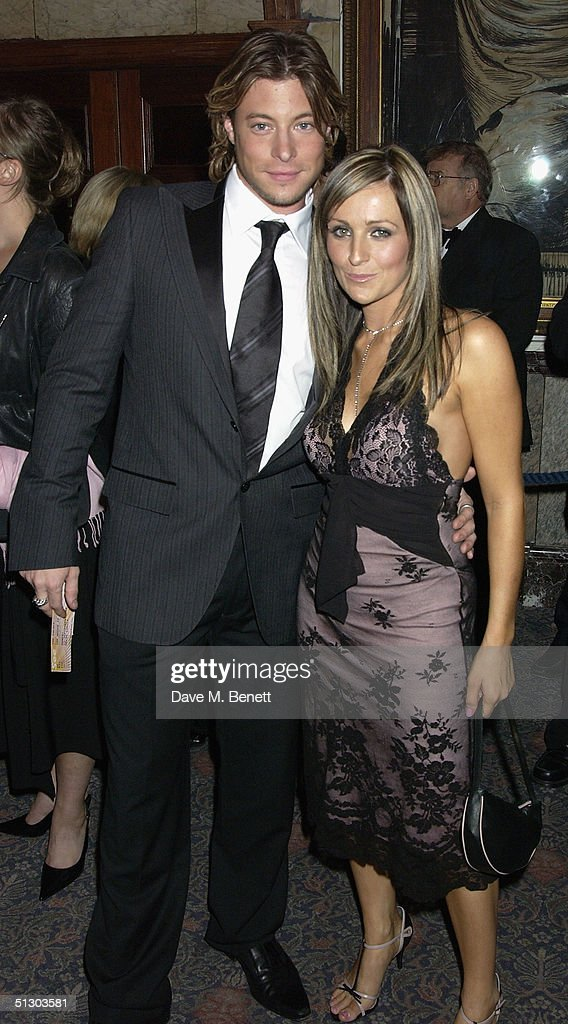 Blue singer Duncan James and classical singer Keedie Babb attend the Royal Gala Premiere of Lord Andrew Lloyd Webber's new musical 'The Woman In White' at the Palace Theatre, Shaftesbury Avenue on September 13, 2004 in London.