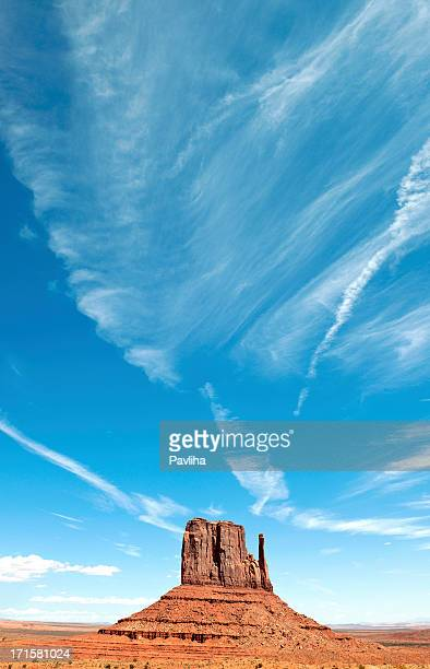 Blue Sky above West Mitten Butte Monument Valley USA
