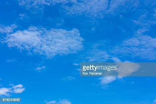 Blue sky and cloud on sunny day : Stock Photo