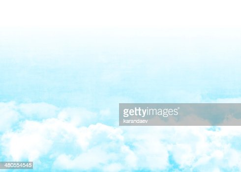 Céu azul e nuvens : Foto de stock