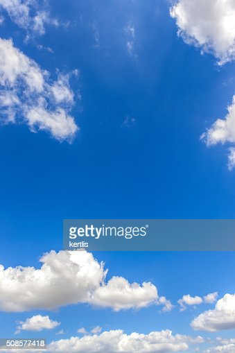 Blue Sky and  clouds (natural background) : Stock Photo