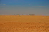 Blue Sky and Mirage in the sandy desert