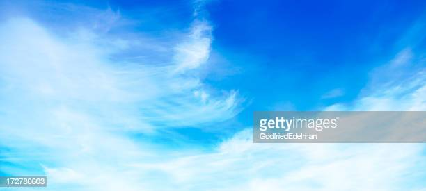 青い空とソフトな雲(パノラマ)