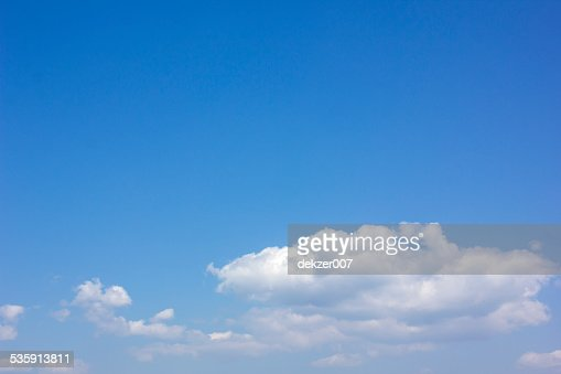 Blue sky and white cloud : Stock Photo