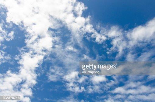 blue sky background with clouds : Stock Photo