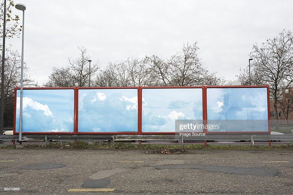 Blue sky on a billboard : Stock Photo