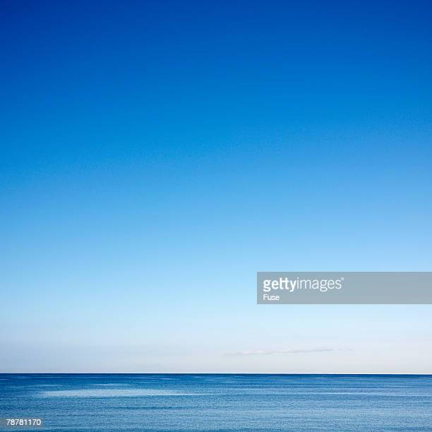 Blue Sky Over a Calm Sea