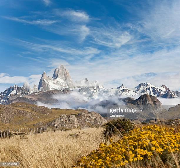 Ciel bleu sur le mont Fitz Roy en Argentine Patagonie,