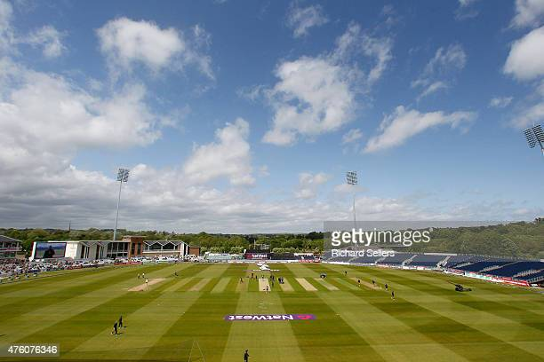 Blue sky over the Emirates Durham ICG ChesterleStreet Cricket Ground before the NatWest T20 Blast between Durham Jets and Birmingham Bears at...