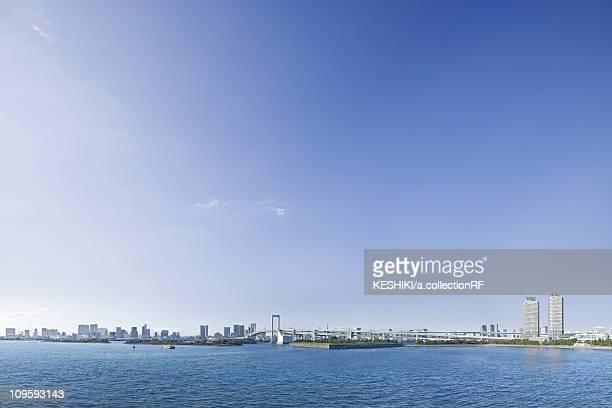 Blue Sky Over Tokyo Skyline