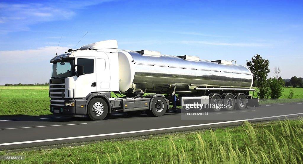 Blue Sky Over White Truck