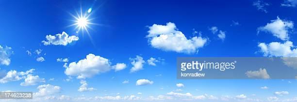 Blauer Himmel-panorama