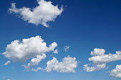 Cloud on blue sky background.