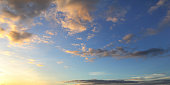 Natural background of blue sky and clouds