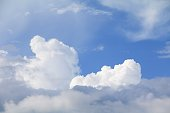 blue sky with big cloud and rain cloud, art of nature beautiful and copy space for add text