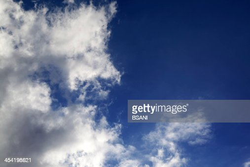 Blue sky with clouds in nice sunny day : Stock Photo