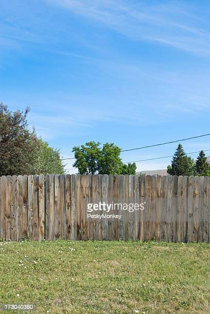 Blue Sky Wood Fence Green Grass Rural America