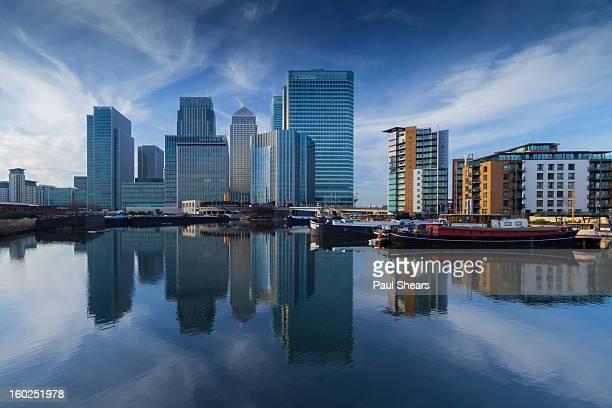 Blue Skys Over Canary Wharf