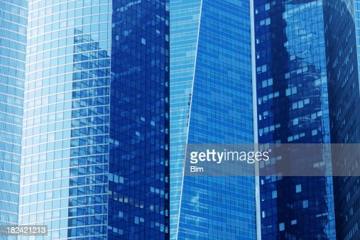 Blue Skyscrapers : Stock Photo
