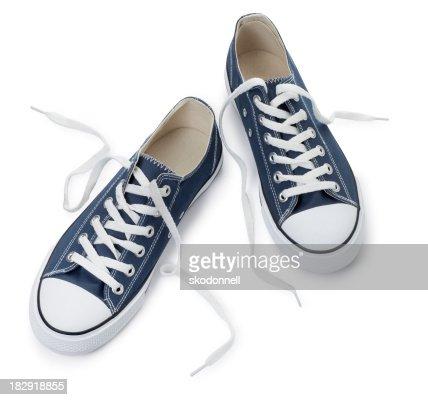 Sapatos Azul sobre um fundo branco