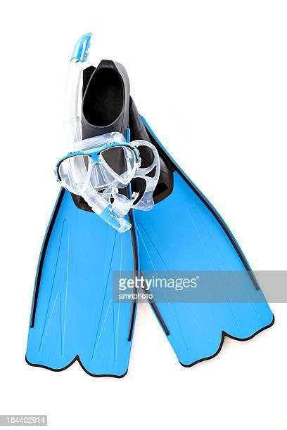 blue snorkel set