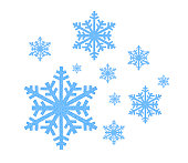 Blue Snowflake icon on white background
