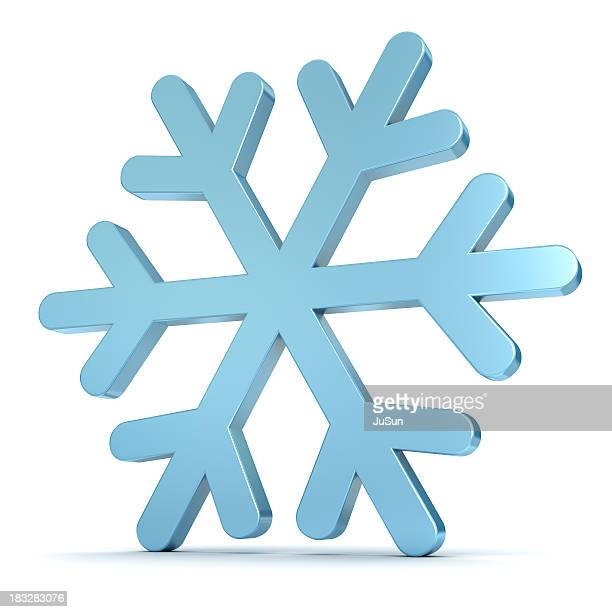 A blue snowflake on a white background