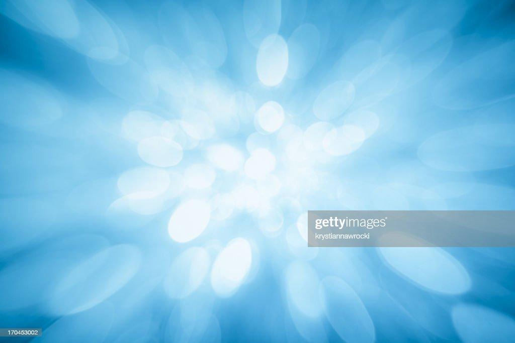 Blue sparkles : Stock Photo