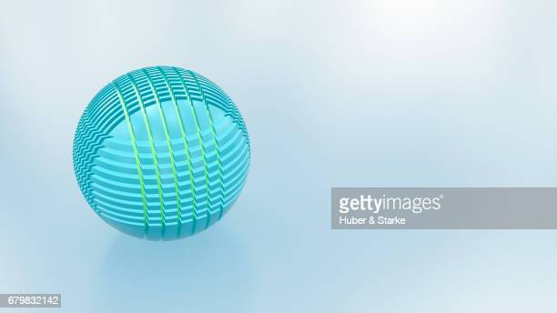 blue sphere with network