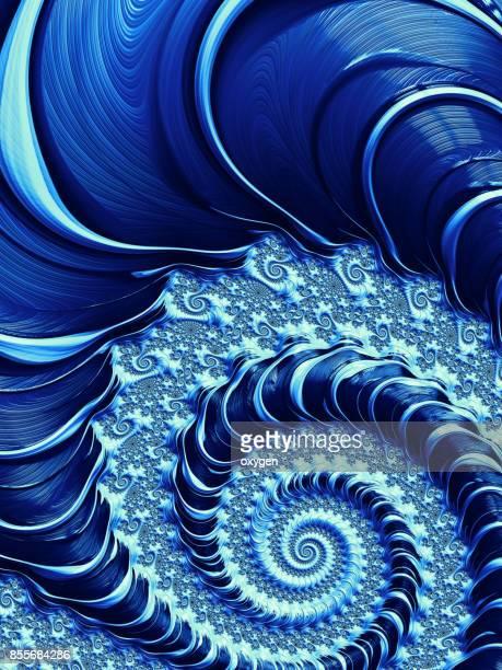 blue spiral abstract fractal pattern