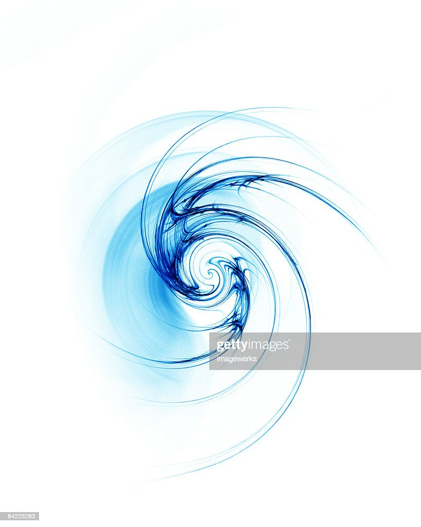 Blue spiral pattern on white background  : Stock Photo