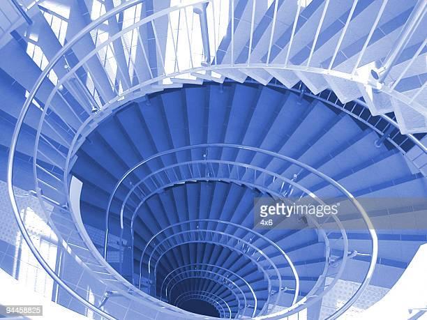 Blue Spiral Stairs