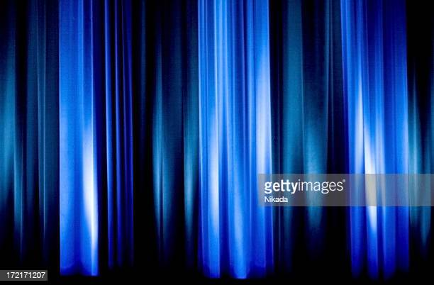 Blue Velvet Curtain Stock Photos and Pictures   Getty Images