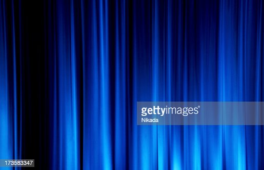 Curtains Ideas blue stage curtains : Blue Stage Curtain Stock Photo | Getty Images