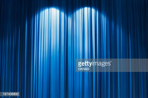 Curtains Ideas blue stage curtains : Blue Stage Curtain Wallpaper Background Stock Photo | Getty Images