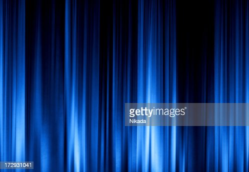 Curtains Ideas blue stage curtains : Blue Stage Curtain Xxl Stock Photo | Getty Images