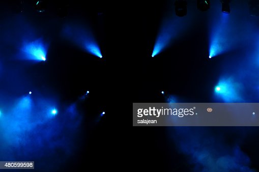 Blue Stage Lights : Stock Photo