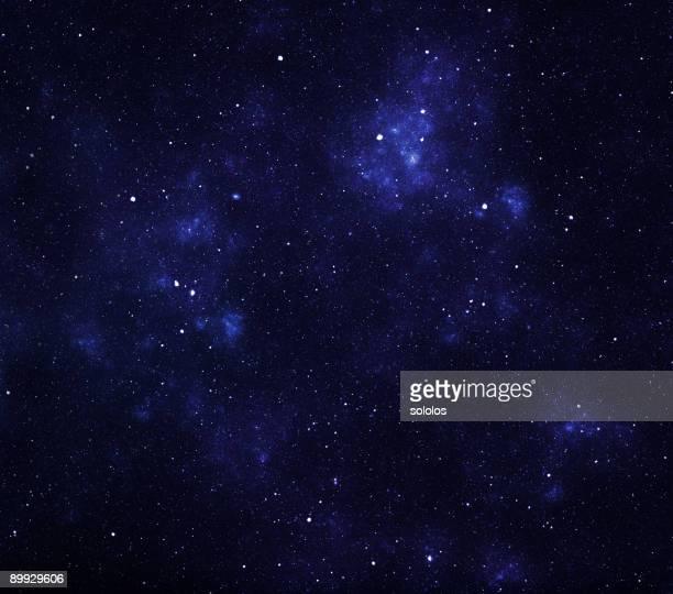 Blau mit Sternen