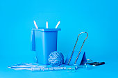 Blue Stationery with blue background