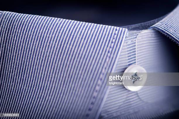Blue striped shirt collar