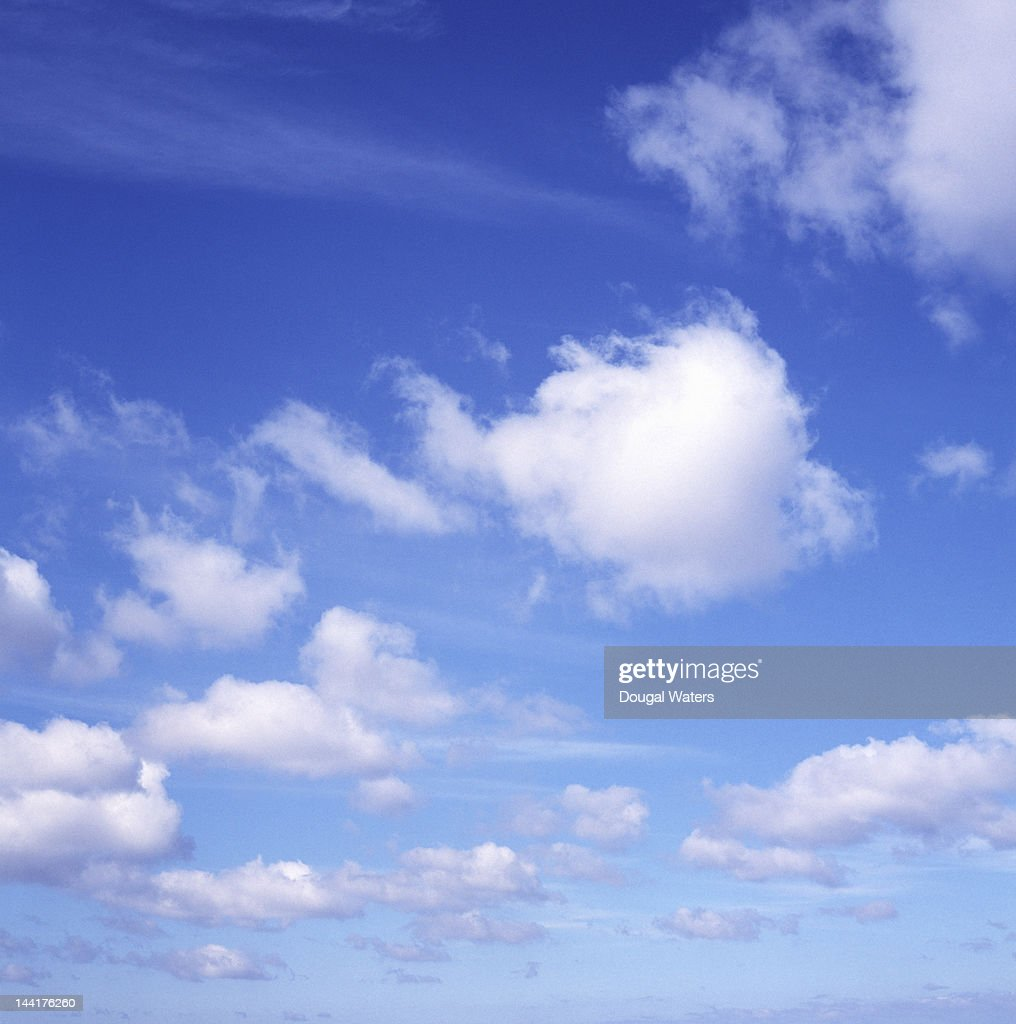 Blue Summer sky with clouds.