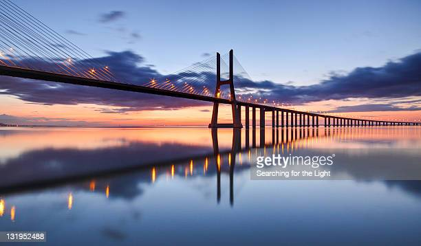 Blue Sunrise at Ponte Vasco da Gama Lisboa