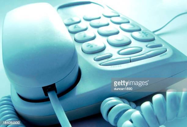ブルーの電話