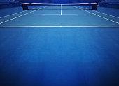 Blue Tennis Court Sport Background