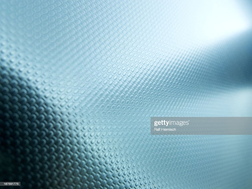 A blue textured surface