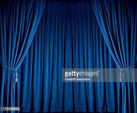 Blue Theatre Drapes